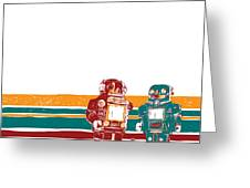 Doubotganger Robots Greeting Card