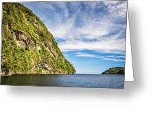 Doubtful Sound Opening To Tasman Sea Greeting Card