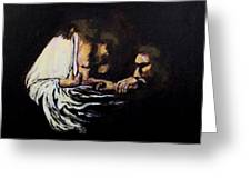 Doubting Thomas Greeting Card by Clyde J Kell