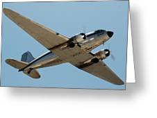 Douglas Dc-3 Rose At Hawthorne Greeting Card