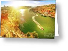 Douro River At Sunset Greeting Card