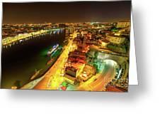 Douro River Skyline Night Greeting Card