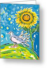 Dove And Sunflower Greeting Card