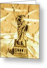 Dove Feathers And American Landmarks Greeting Card