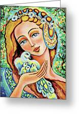 Dove Forest Fairy Greeting Card