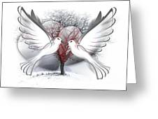 Doves Of Peace Greeting Card