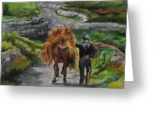 Down A Country Lane Greeting Card