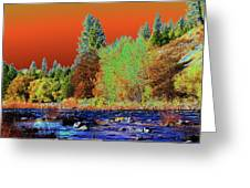 Down Along The Spokane River Greeting Card