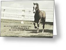 Down And Back Quote Greeting Card
