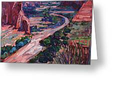 Down In The Canyon Greeting Card by Erin Hanson