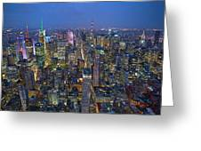 Down In The City  Greeting Card