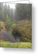 Down Pour At Boulder Cave Greeting Card
