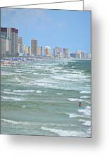 Down The Beach Greeting Card