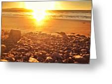 Down The Beach #beach Greeting Card