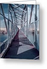 Down The Bridge Greeting Card