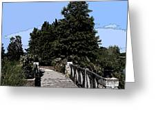 Down The Bridge Greeting Card