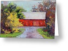 Down The County Road Greeting Card