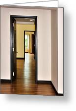 Down The Hall Greeting Card