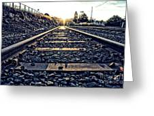 Down The Line Greeting Card