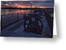 Down The Overholser Dam Greeting Card