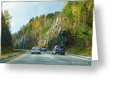 Down The Road On Route 89 Greeting Card