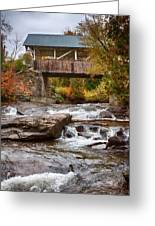 Down The Road To Greenbanks's Hollow Covered Bridge Greeting Card