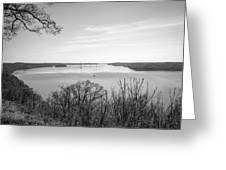 Down The Susquehanna_bw Greeting Card