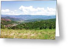 Down The Valley At Snowmass #2 Greeting Card