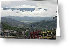Down The Valley At Snowmass Greeting Card