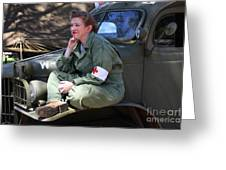 Down Time-us Army Nurse Corps Greeting Card