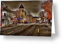 Down Town Lexington Va Greeting Card by Todd Hostetter