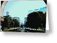 Down University Avenue Greeting Card