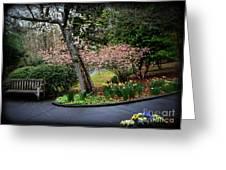 Downhill Landscape Scene Greeting Card by Eva Thomas