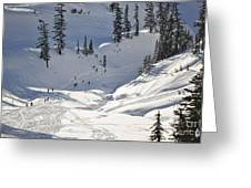 Downhill Skiers Greeting Card