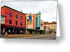 Downtown Anchorage Alaska Greeting Card