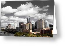 Downtown And Lake Greeting Card