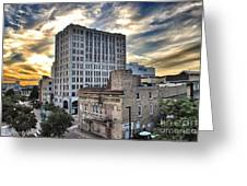 Downtown Appleton Skyline Greeting Card by Mark David Zahn