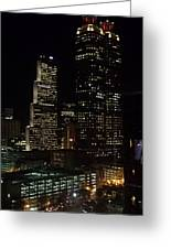 Downtown Atlanta Lights Greeting Card
