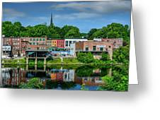 Downtown Augusta, Maine Greeting Card