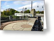 Downtown Binghamton Ny Confluence Park Greeting Card