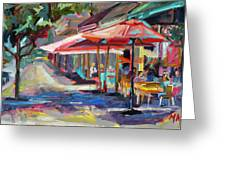 Downtown Bistro Greeting Card