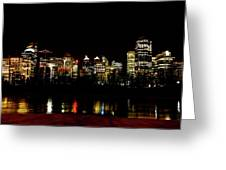 Downtown Calgary At Night Greeting Card