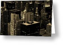 Downtown Chicago At Sunset Greeting Card