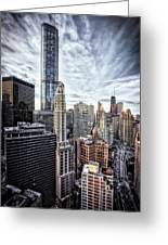 Downtown Chicago Cityscape 1  Greeting Card
