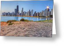 Downtown Chicago From North Beach Greeting Card