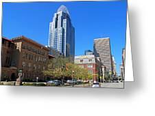 Downtown Cincinnati  4188 Greeting Card