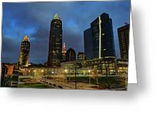 Downtown Cleveland At Dusk Greeting Card