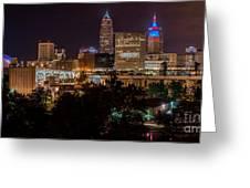 Downtown Cleveland Veteran Memorial Bridge  Greeting Card