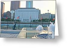 Downtown Columbus  7765 Greeting Card