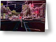 Downtown Eclipse Greeting Card